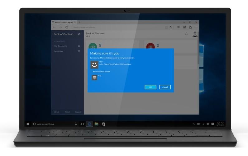 Windows Hello Microsoft Edge und Apps