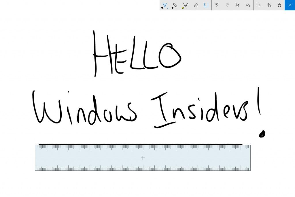 Windows Ink Hello Windows Insiders