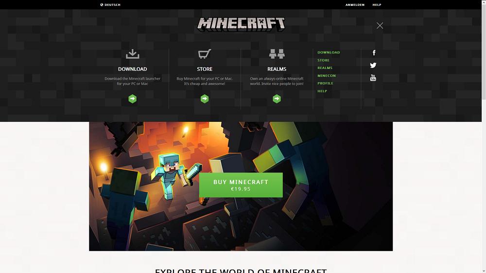 Minecraft.net neu 2