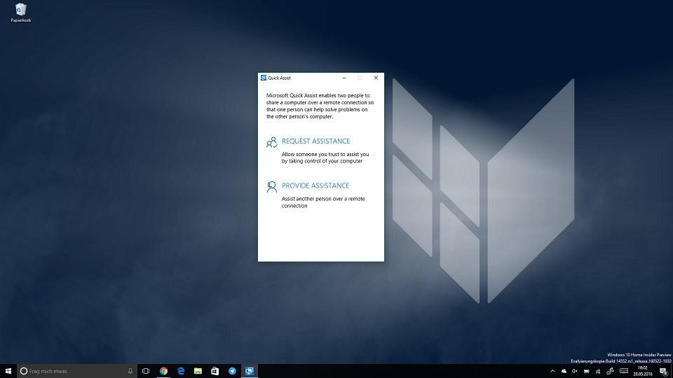Quick Assist Windows 10 Remote