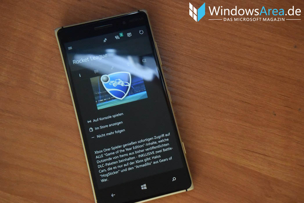 Windows 10 Mobile Xbox Game Streaming