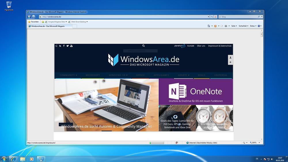 Windows 7 Internet Explorer 8