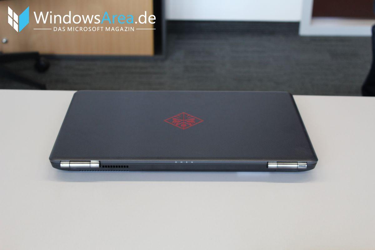 HP OMEN 15 Hands-On Erster Eindruck Rückseite