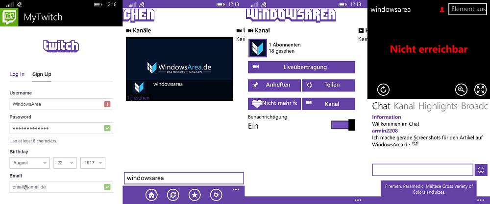 MyTwitch WindowsArea Twitch folgen Anleitung App