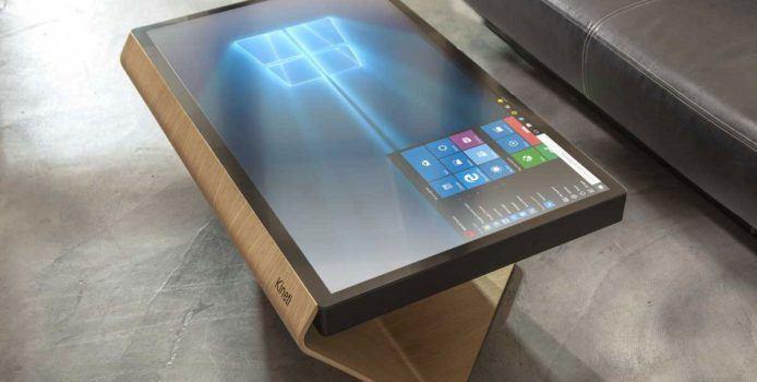 Kineti la Table Couchtisch mit Windows 10 Tisch mit Windows 10 Wohnzimmertisch
