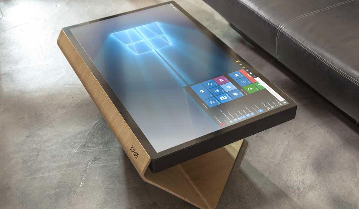 Table kineti erster couchtisch mit windows 10 f r 5000 euro for Wohnzimmertisch gunstig