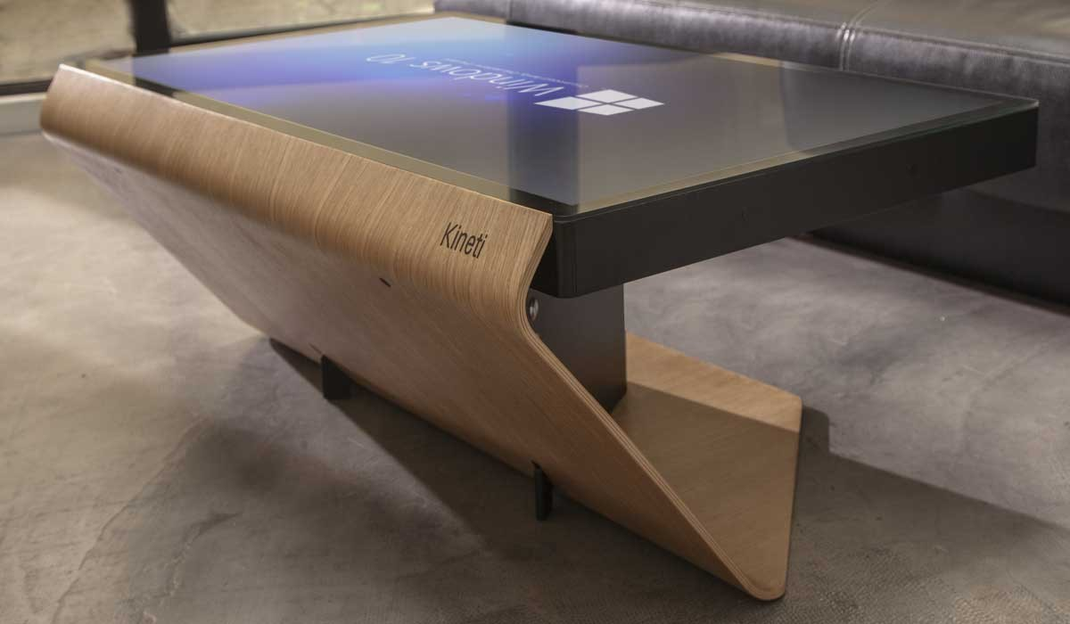 Kineti la Table Couchtisch mit Windows 10 Tisch mit Windows 10