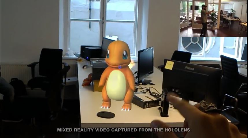 screenshot pokemon go hololens