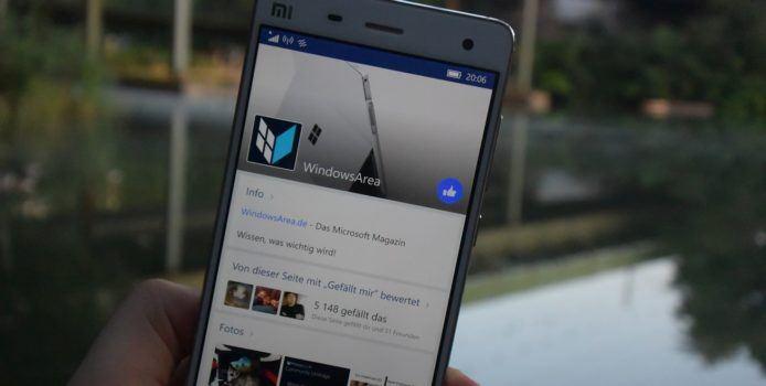 Mobile Facebook-Seite für Windows 10 Mobile wird zur Handy-Version