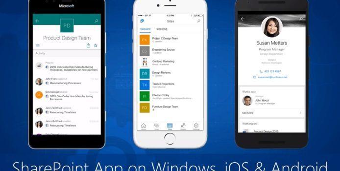 Offizielle SharePoint-App für Windows 10 Mobile kommt aus der Preview