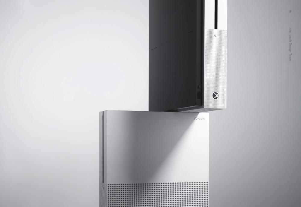 Xbox One S Design übereinander