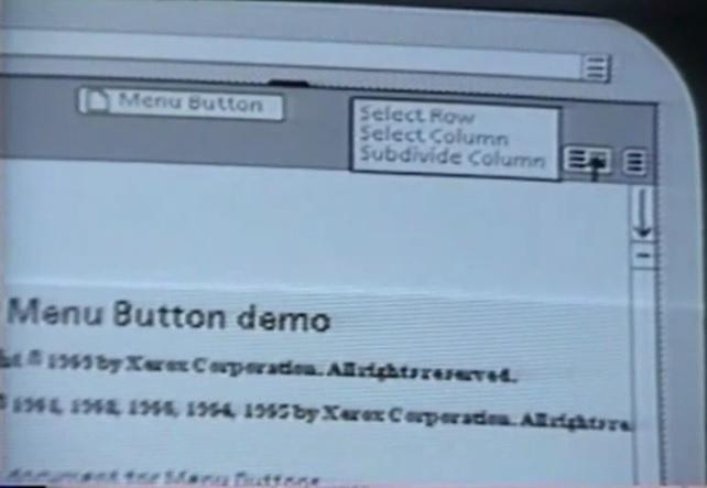 Xerox Star Menu Button