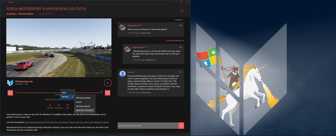 myTube Continue App Experience