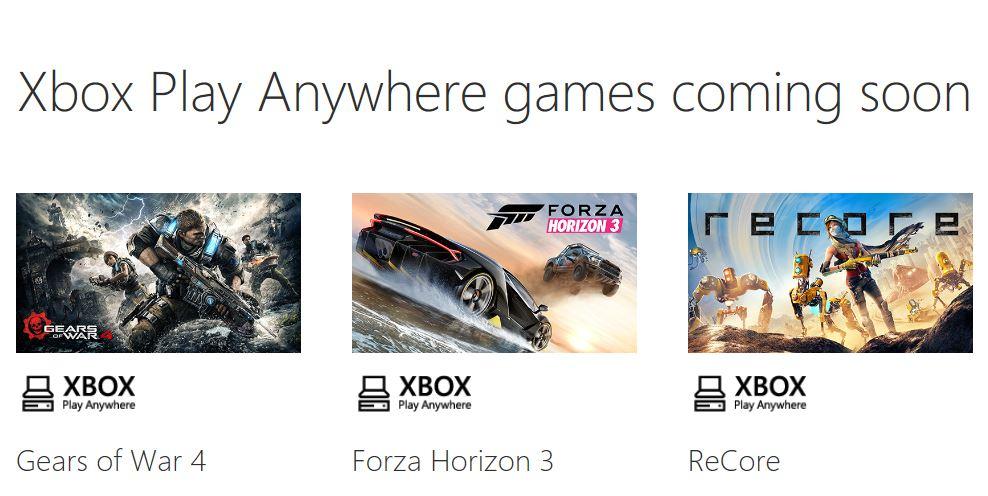 Play Anywhere Spiele