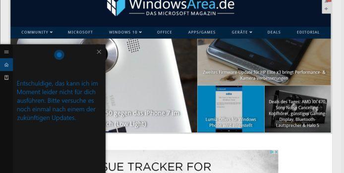 Cortana könnte bald Internetgeschwindigkeit testen und PC ausschalten