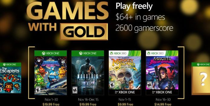 Xbox Live Games with Gold: Gratis Spiele im November