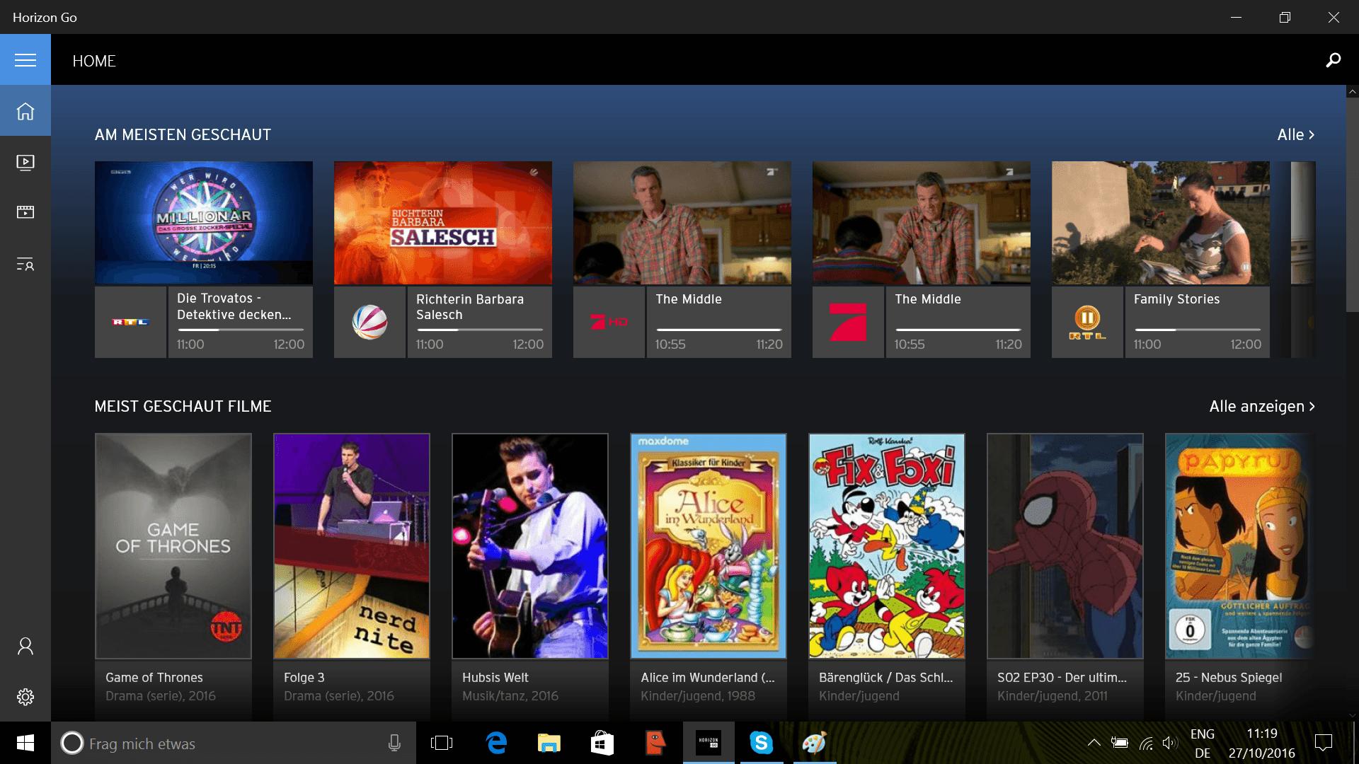 Horizon GO lässt sich unter Windows 10 Mobile installieren