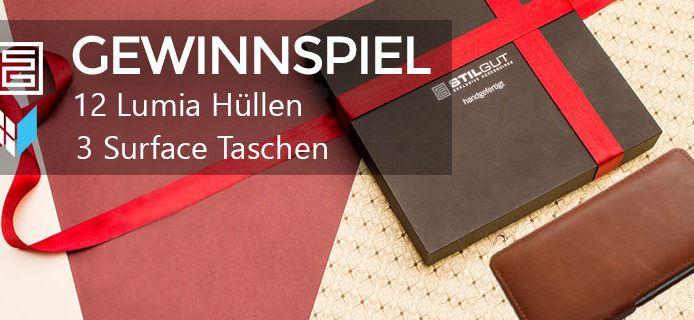 Die Gewinner stehen fest: Weihnachtsgewinnspiel Teil V: Wir verlosen Stilgut-Hüllen für Lumia und Surface im Wert von mehr als 500 Euro