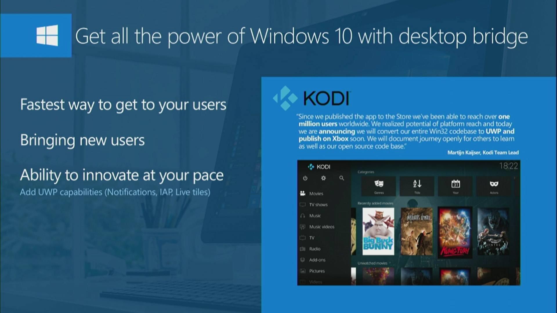 kodi stellt windows entwicklung auf uwp um xbox one app in arbeit. Black Bedroom Furniture Sets. Home Design Ideas