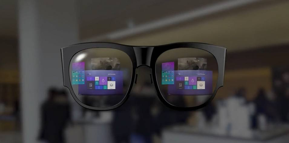 monitorless samsung zeigt augmented reality brille am mwc. Black Bedroom Furniture Sets. Home Design Ideas