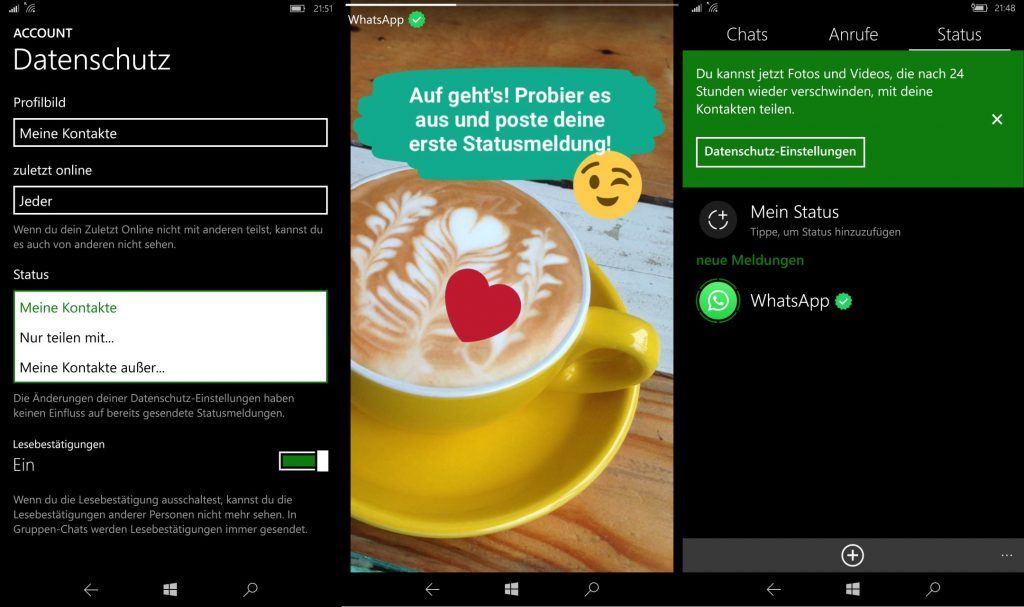 Whatsapp Status Ab Sofort In Deutschland Für Windows Phone