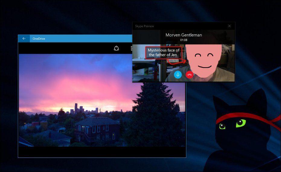 skype preview app f r windows 10 bekommt kompaktes overlay fenster. Black Bedroom Furniture Sets. Home Design Ideas