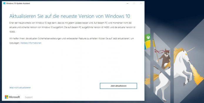 Windows 10 Creators Update bereits über Upgrade Assistenten verfügbar