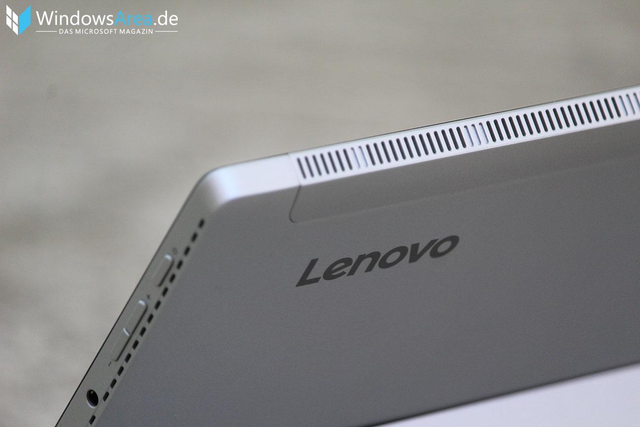 Lenovo Miix 510 Test - Lüfterschlitze und Buttons