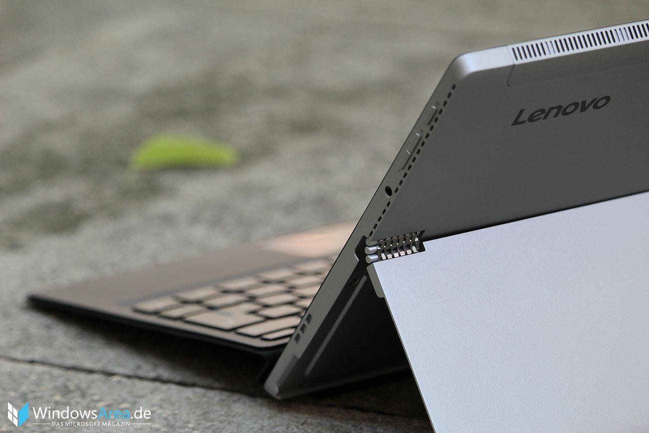 Lenovo Miix 510 Test - Rückseite und Scharnier