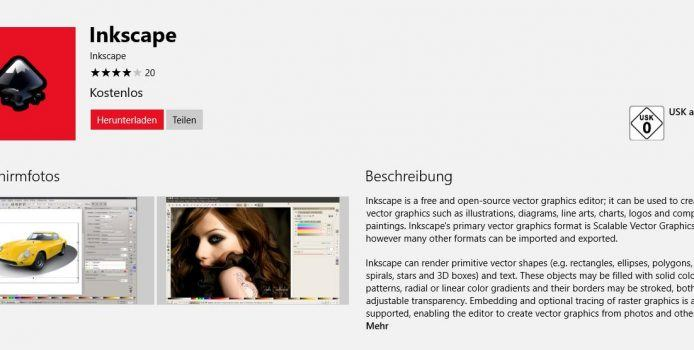 Inkscape: InDesign-Alternative ab sofort kostenlos im Windows Store