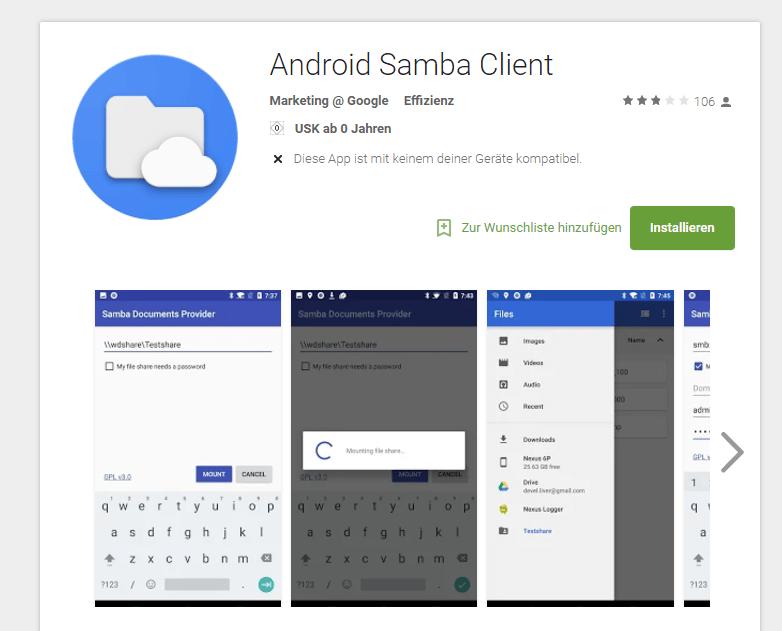 Android Samba