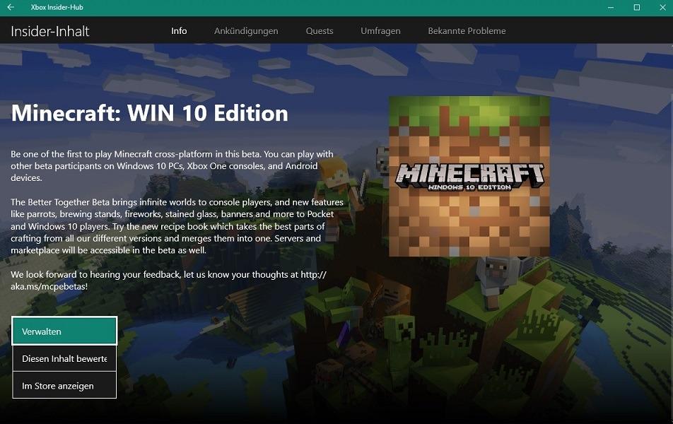 So Gehts Minecraft Beta Installieren ùnd Berets Crossplay Testen - Minecraft kostenlos spielen nicht downloaden