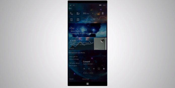 Surface Phone: Konzept zeigt, wie Andromeda OS mit Fluent Design aussehen könnte