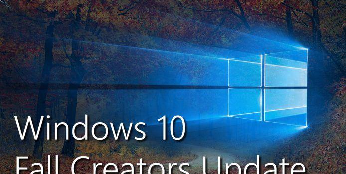 Fall Creators Update nun auf 85 Prozent aller Windows 10-PCs