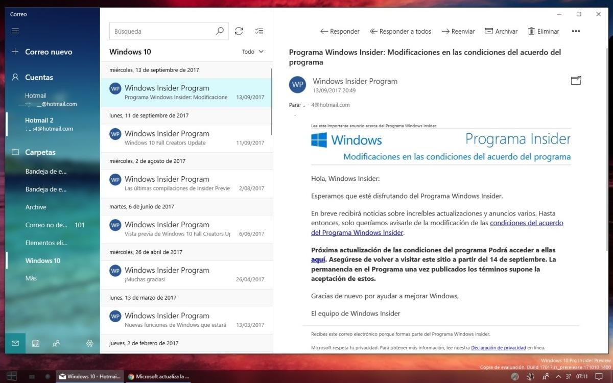 Insider-Update für Outlook Mail und Kalender bringt Fluent Design