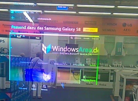 WindowsArea.de auf der HoloLens