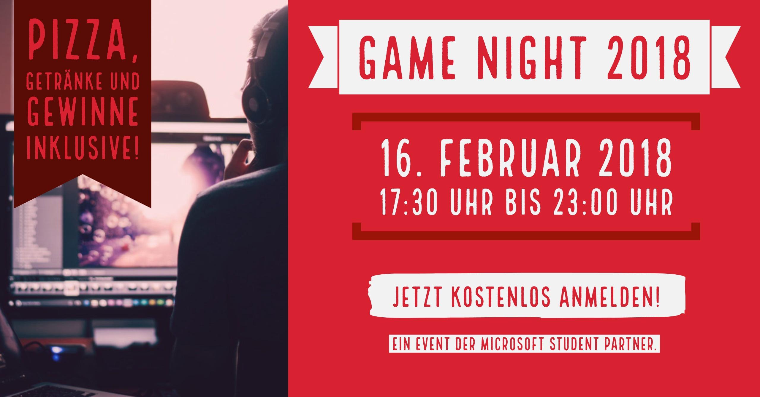 Event-Tipp: Game Night 2018 in Bergisch Gladbach am 16. Februar