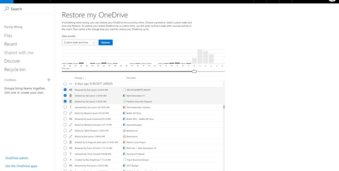 OneDrive Datenwiederherstellung: Microsoft nennt weitere Details zur neuen Funktion