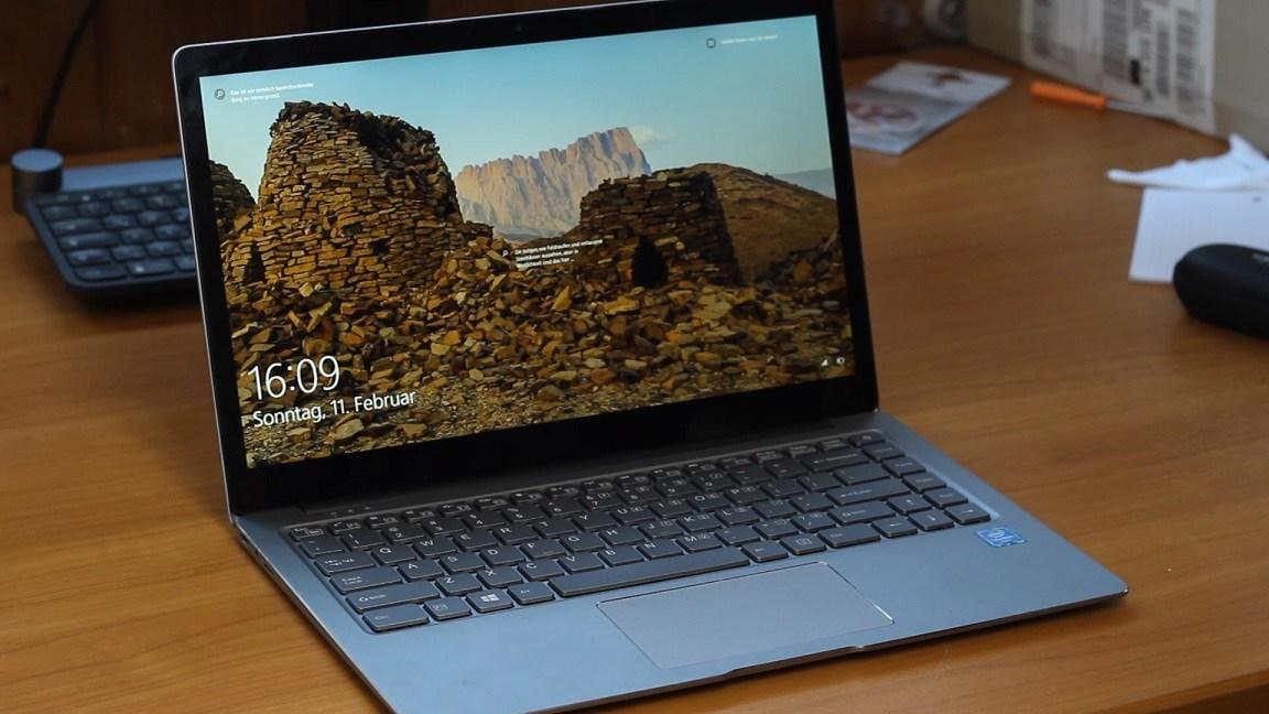 Windows Sperrbildschirm auf einem Chuwi Notebook