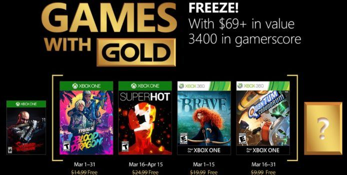 Xbox Live Games with Gold: Gratis Spiele im März