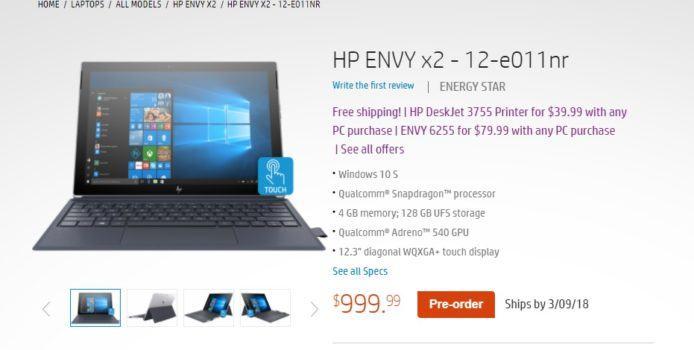 HP Envy x2 mit Windows 10 ARM – Preis und Release-Datum stehen fest