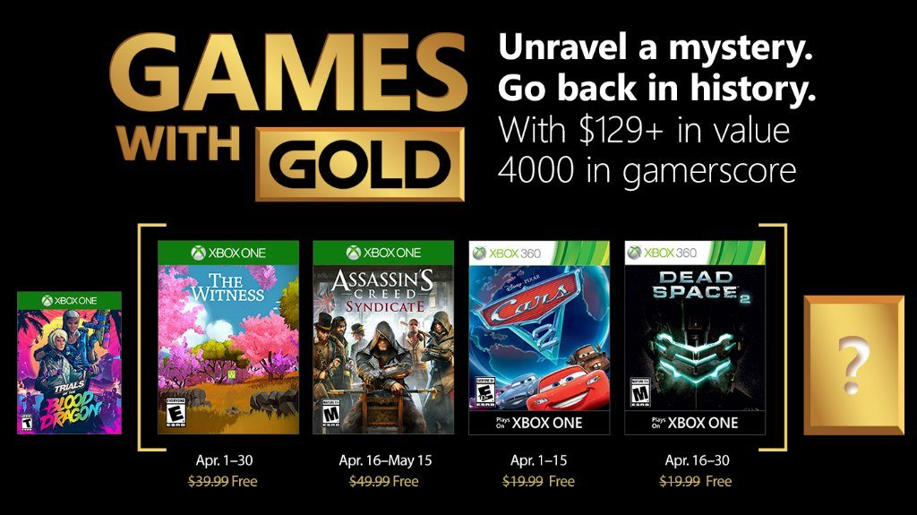 Xbox Live Games With Gold Gratis Spiele Im April 2018