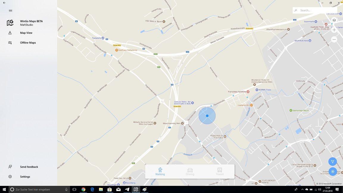 Google Maps UWP - Inoffizielle App kann sich sehen lassen