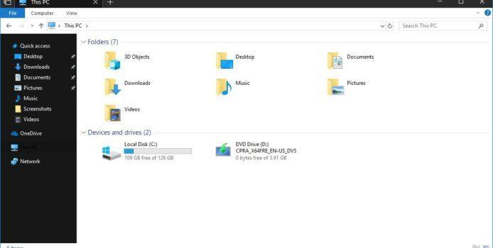 Microsoft arbeitet an dunklem Design für den Windows Explorer