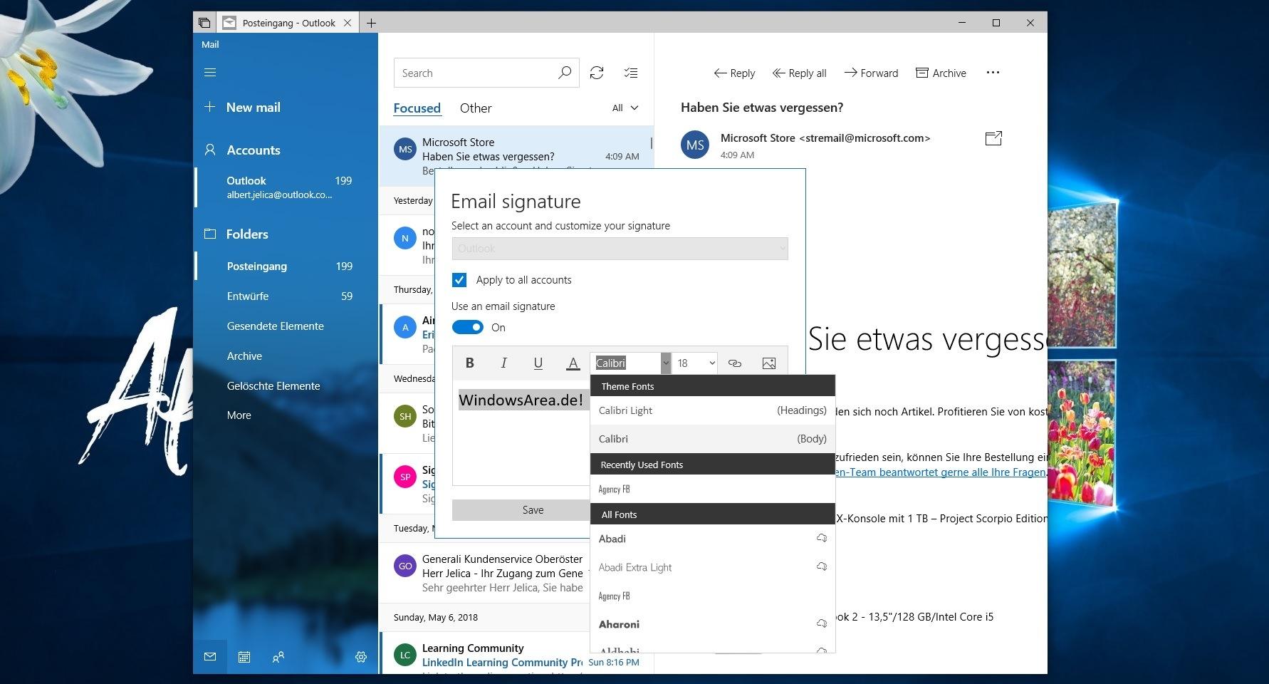 Windows 10 Mail-App bekommt ein wichtiges Feature