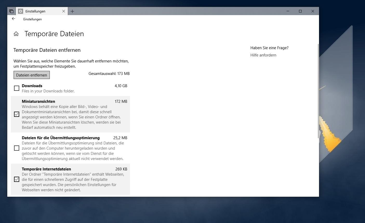 Windows 10 Speicher Voll