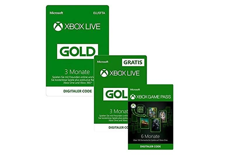6 Monate Xbox Live Gold Xbox Game Pass Für 4499 Euro