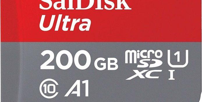 Deal: SanDisk Ultra 200GB MicroSD-Karte für 28,99 Euro