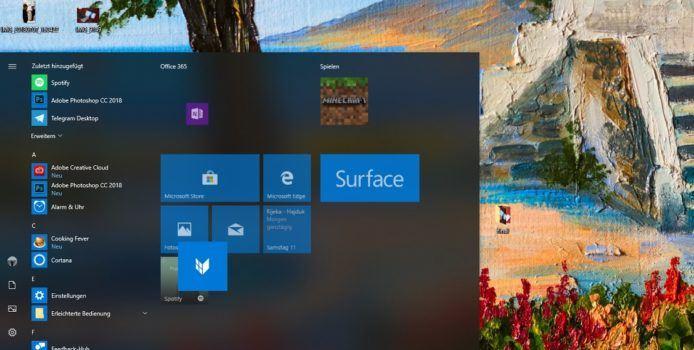 Windows 10 Startmenü Bug macht das Einschieben von Live Tiles unmöglich
