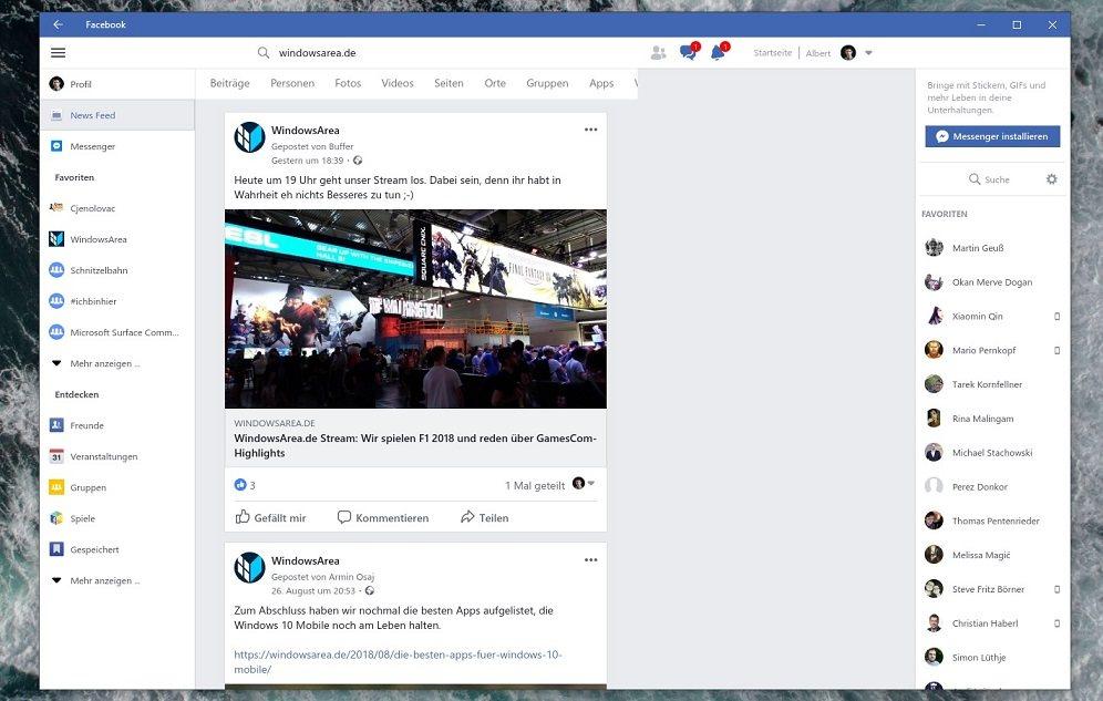 Facebook für Windows 10 erhält nach langer Zeit ein Update
